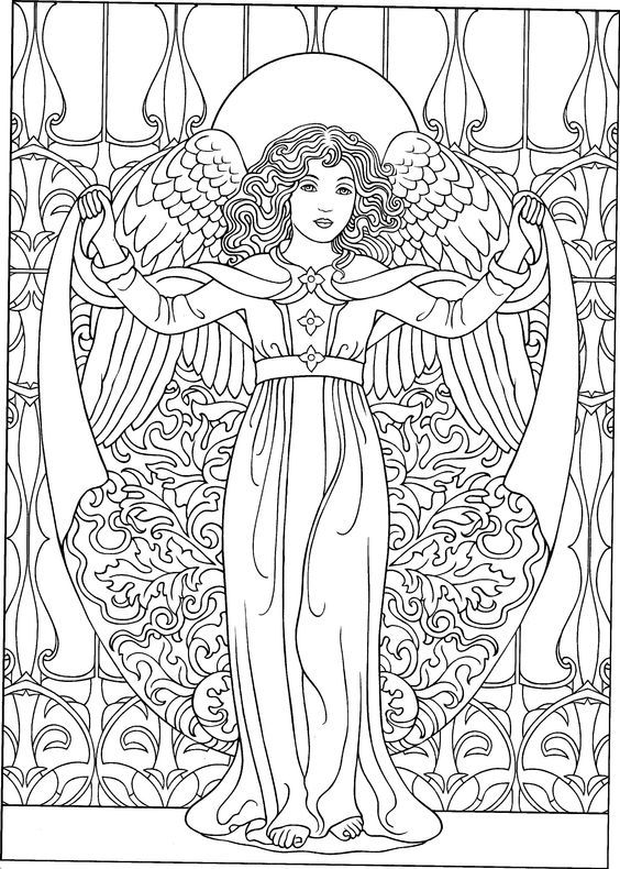 Pin by doki on Engel | Angel coloring pages, Fairy ...