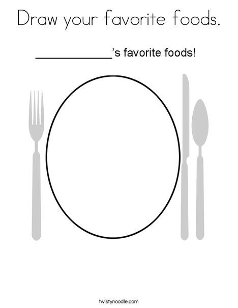 draw your favorite foods coloring page