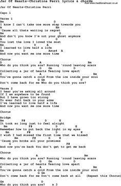 Jar Of Hearts Uke Chords : hearts, chords, #ukulele, Lyrics, Chords,, Guitar, Chords, Lyrics,, Christina, Perri