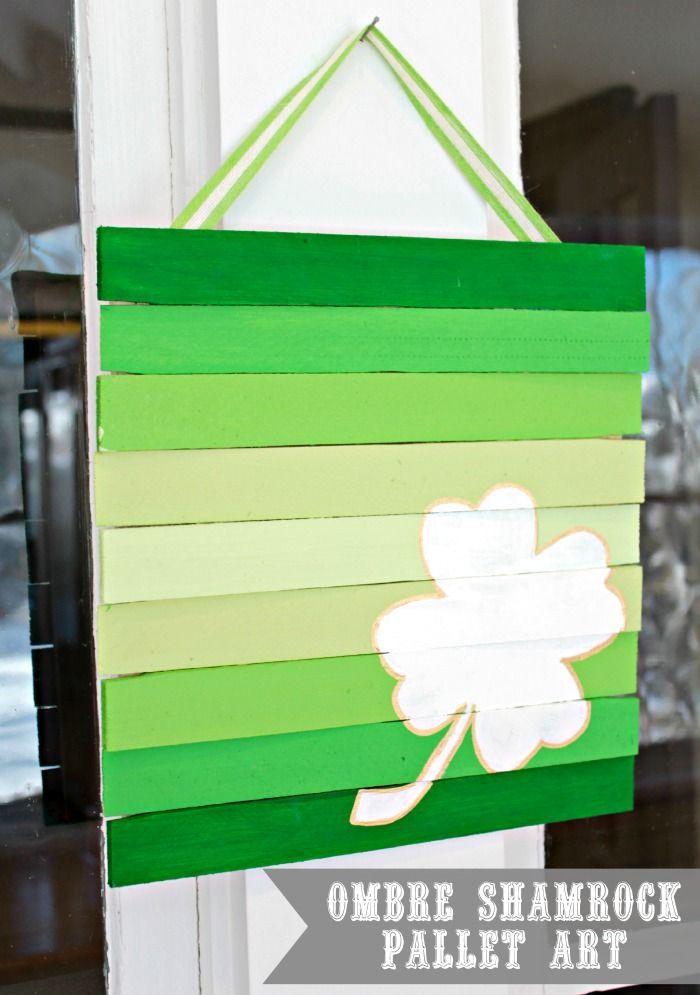 Easy Wood Shim Pallet Art St Patricks Crafts St Patrick S Day