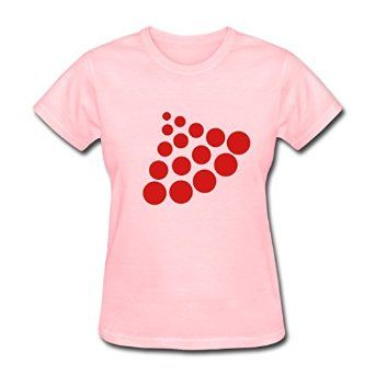 KINGShirts Funny Cotton Women's Cool Circles T-Shirts Pink