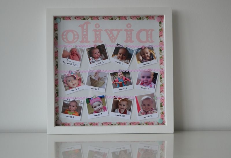 1st birthday gift diy diy first birthday gift month by month photo