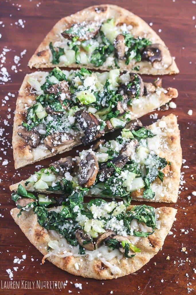 Baby Bok Choy Mushroom Pizza
