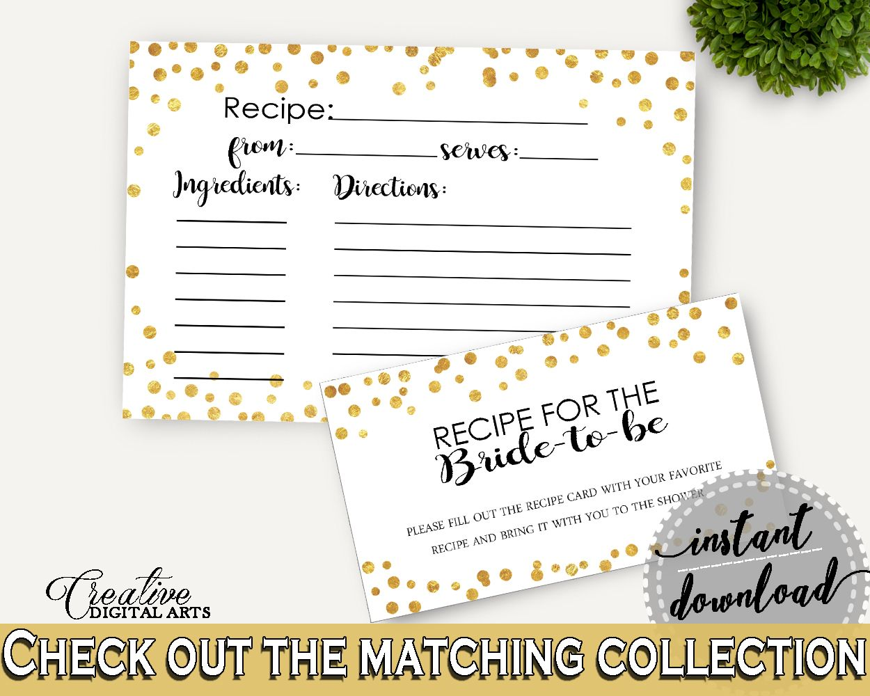 Recipe For The Bride To Be Bridal Shower Recipe For The Bride To Be Confetti Bridal Shower Recipe For The Bride To Be Bridal Shower CZXE5 #bridalshower #bride-to-be #bridetobe