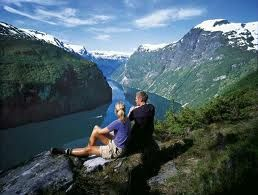 Olsofjord, Norway  Don't know those people, but I'd like to be them for just a little while!