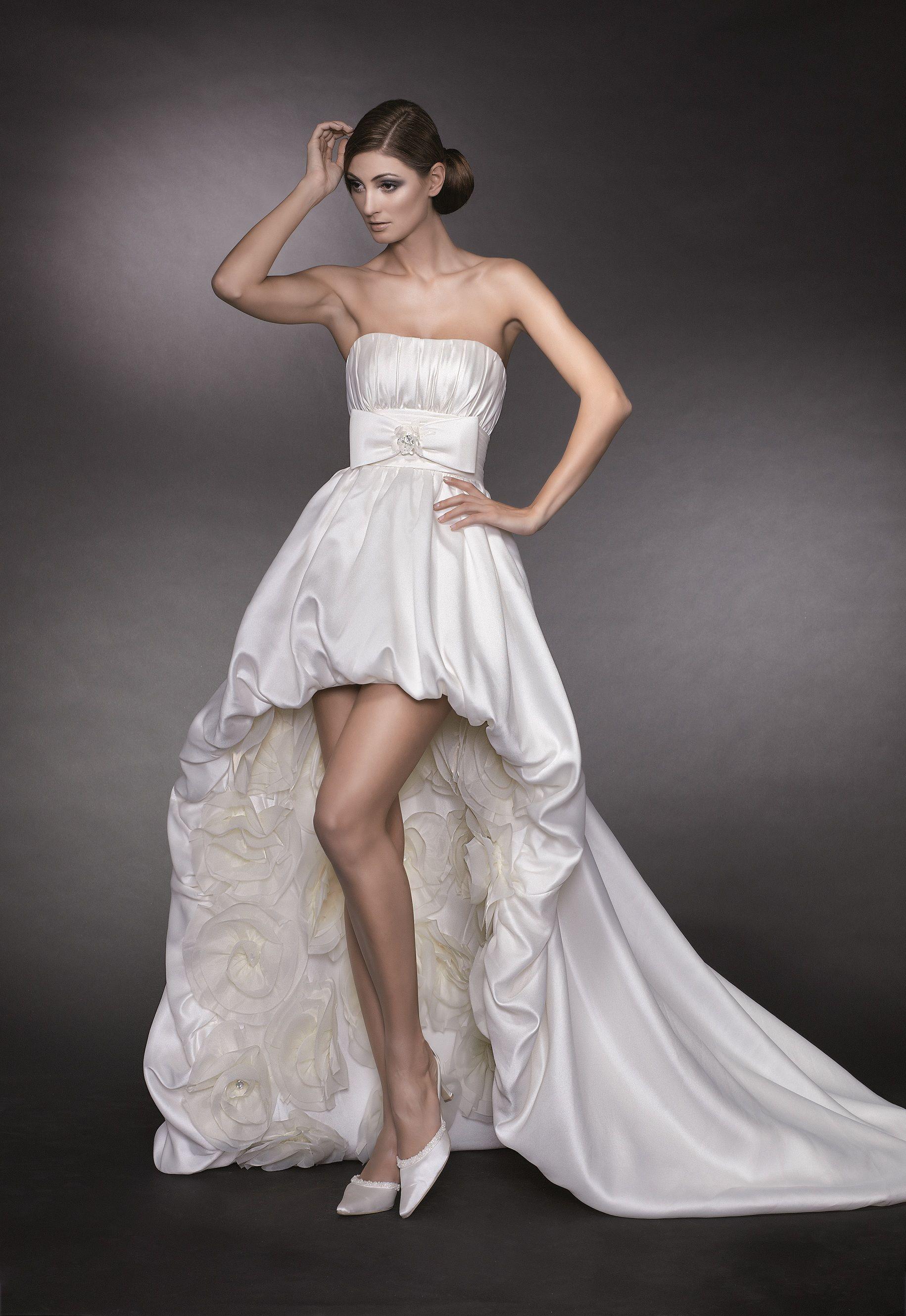 Billig und elegant hochzeitskleid vorne kurz hinten lang | kleidung ...