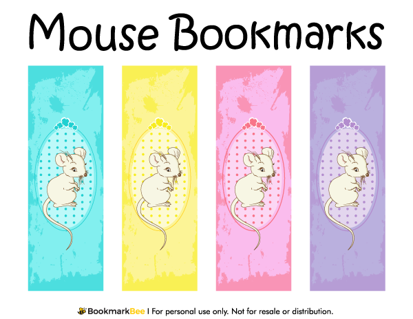 Free printable mouse bookmarks download the pdf template at http bookmarkbeecom bookmark for Printable bookmarks pdf