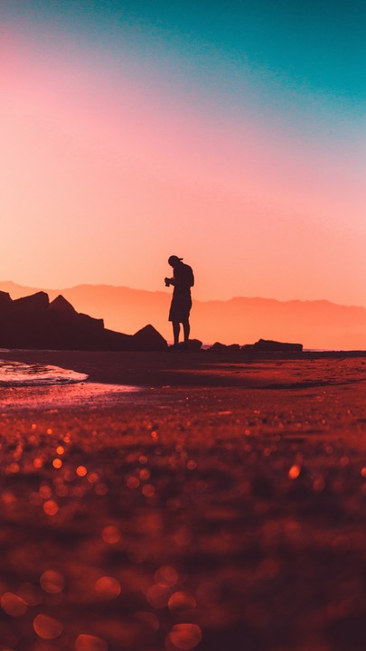 The Latest Iphone11 Iphone11 Pro Iphone 11 Pro Max Mobile Phone Hd Wallpapers Free Download Photographer Lonely Silhouette Sunset Pink In 2020