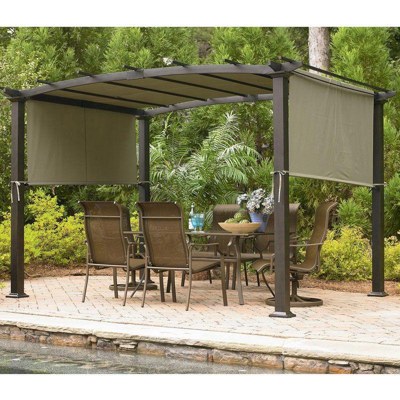 Sears Garden Oasis Curved Pergola Replacement Canopy Gf 11s168b Garden Winds 59 Pergola Curved Pergola Pergola Garden
