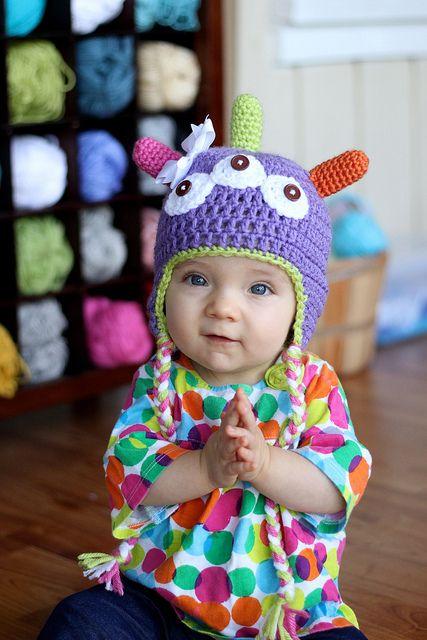 Crochet Monster Hat | Pinterest