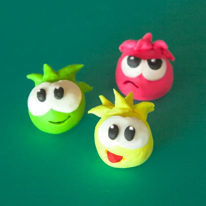 Club penguin polymer clay puffles club penguin polymer for Simple clay designs