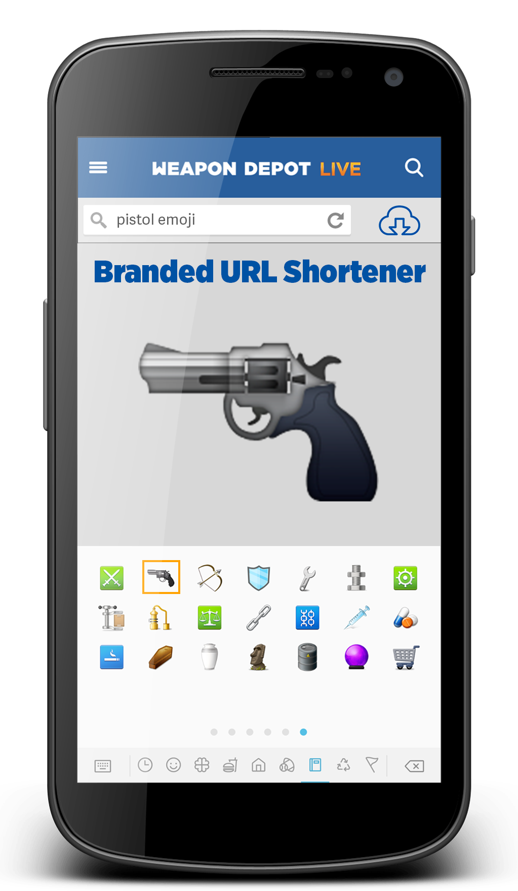 Pin By Weapon Depot On Emojis Emoji Pistol Electronic Products