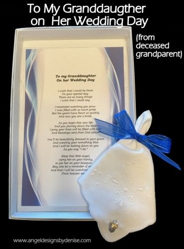 To My Granddaughter On Her Wedding Day From Deceased Grandpa Are You Looking For A Gift Give Your Daughter Grandpas