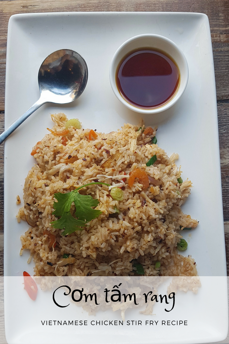 Com Tam Rang - Quick and easy  Vietnamese fried rice recipe