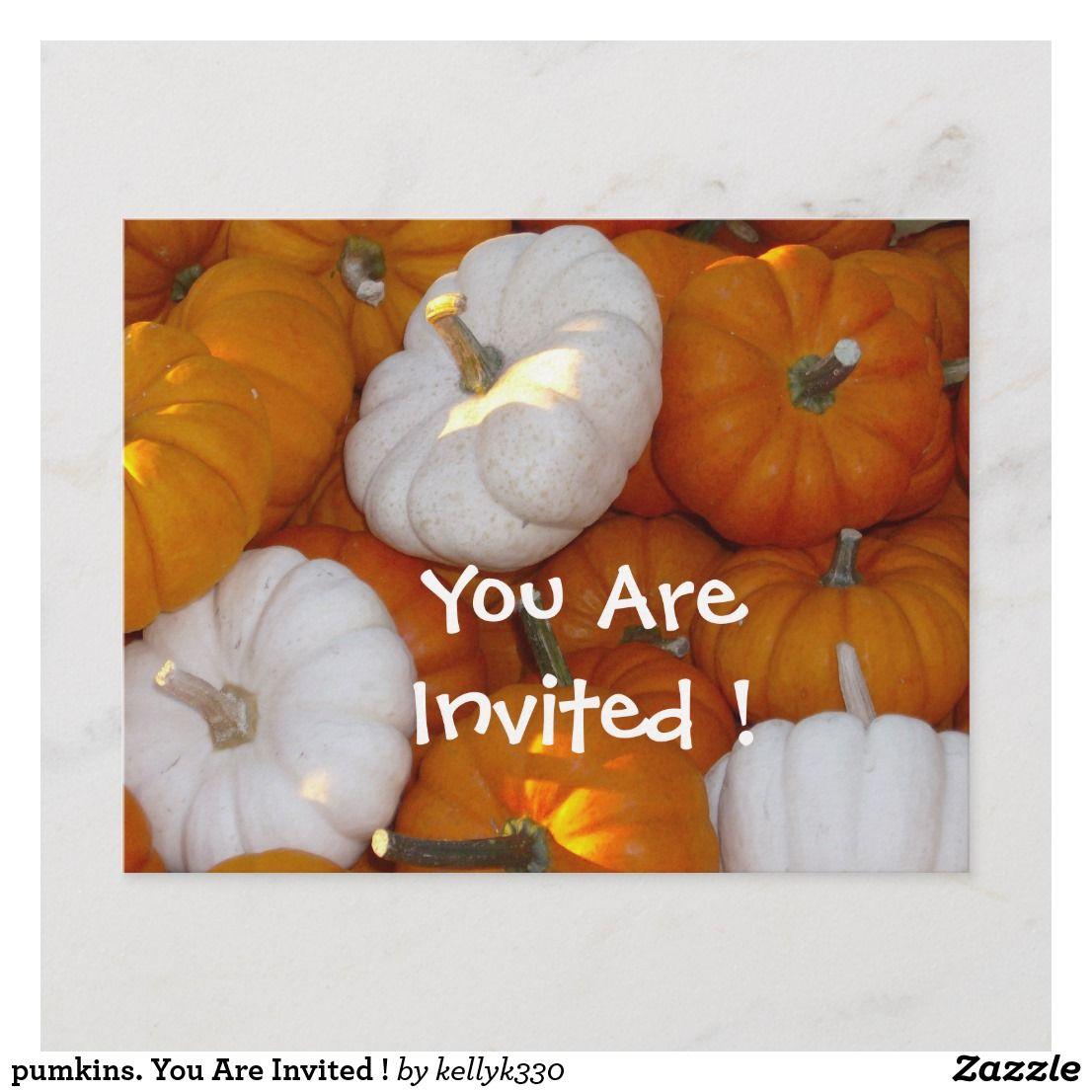 Pumkins You Are Invited Invitation Postcard