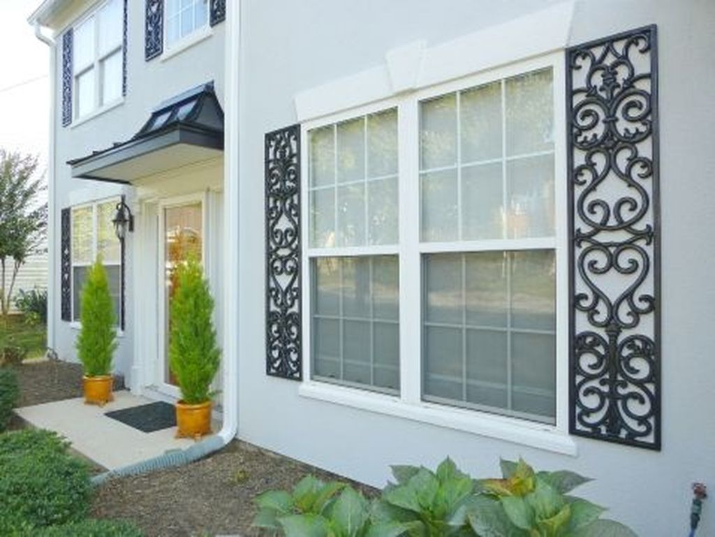 Cool 20 Lovely Exterior Window Shutter Design Ideas More At