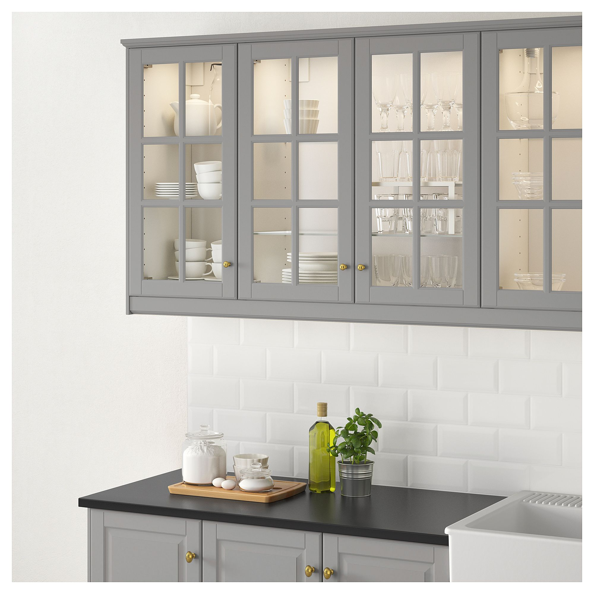 Best Ikea Bodbyn Glass Door Gray Kitchen Design New 640 x 480