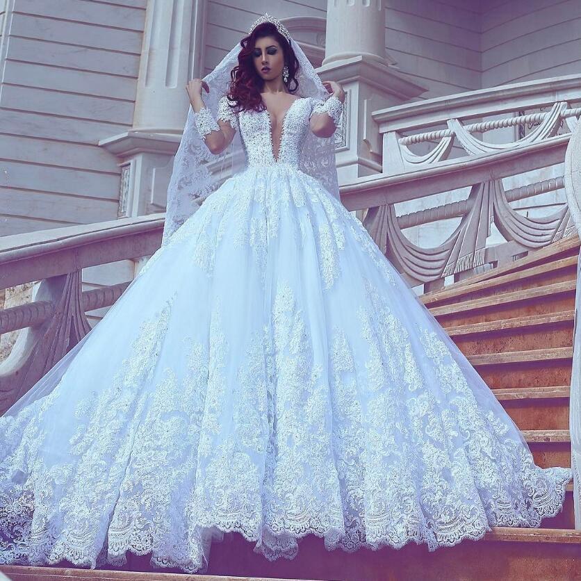pas cher de luxe duba dentelle robes de mariage arabe dentelle cristal robe de mari e. Black Bedroom Furniture Sets. Home Design Ideas