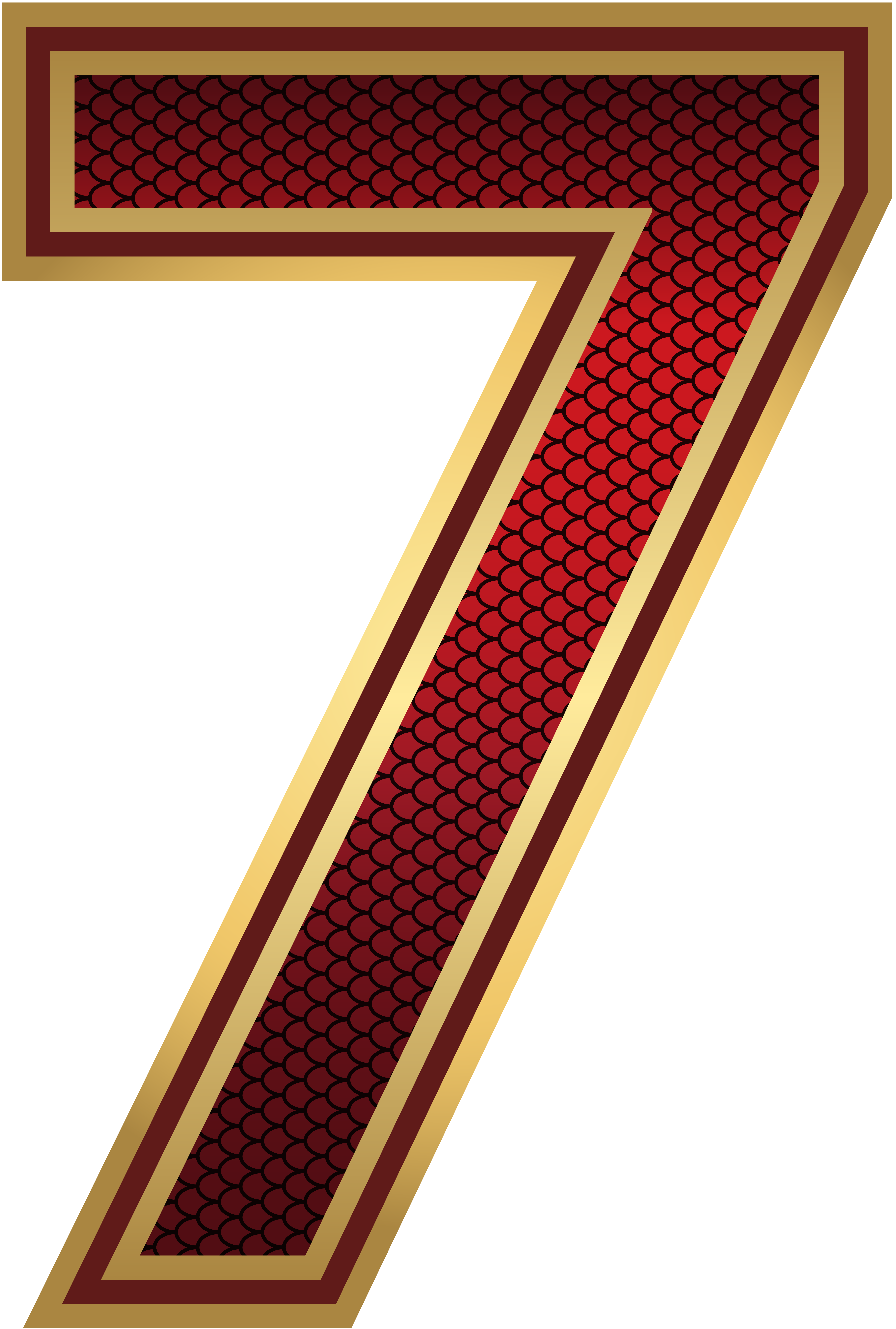 Red And Gold Number Seven Png Image Gallery Yopriceville High Quality Images And Transparent Png Free Clipart Numbers Font Red And Gold Png Images