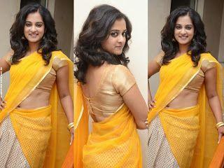 London Bridge Malayalam Movie Actress Nanditha Raj Hot Navel Show Photos In Half Saree Actress Nandita