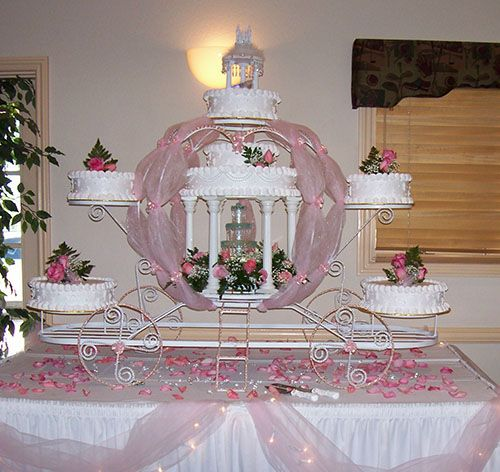 Carriage Display Cinderella Wedding Cake Ideas