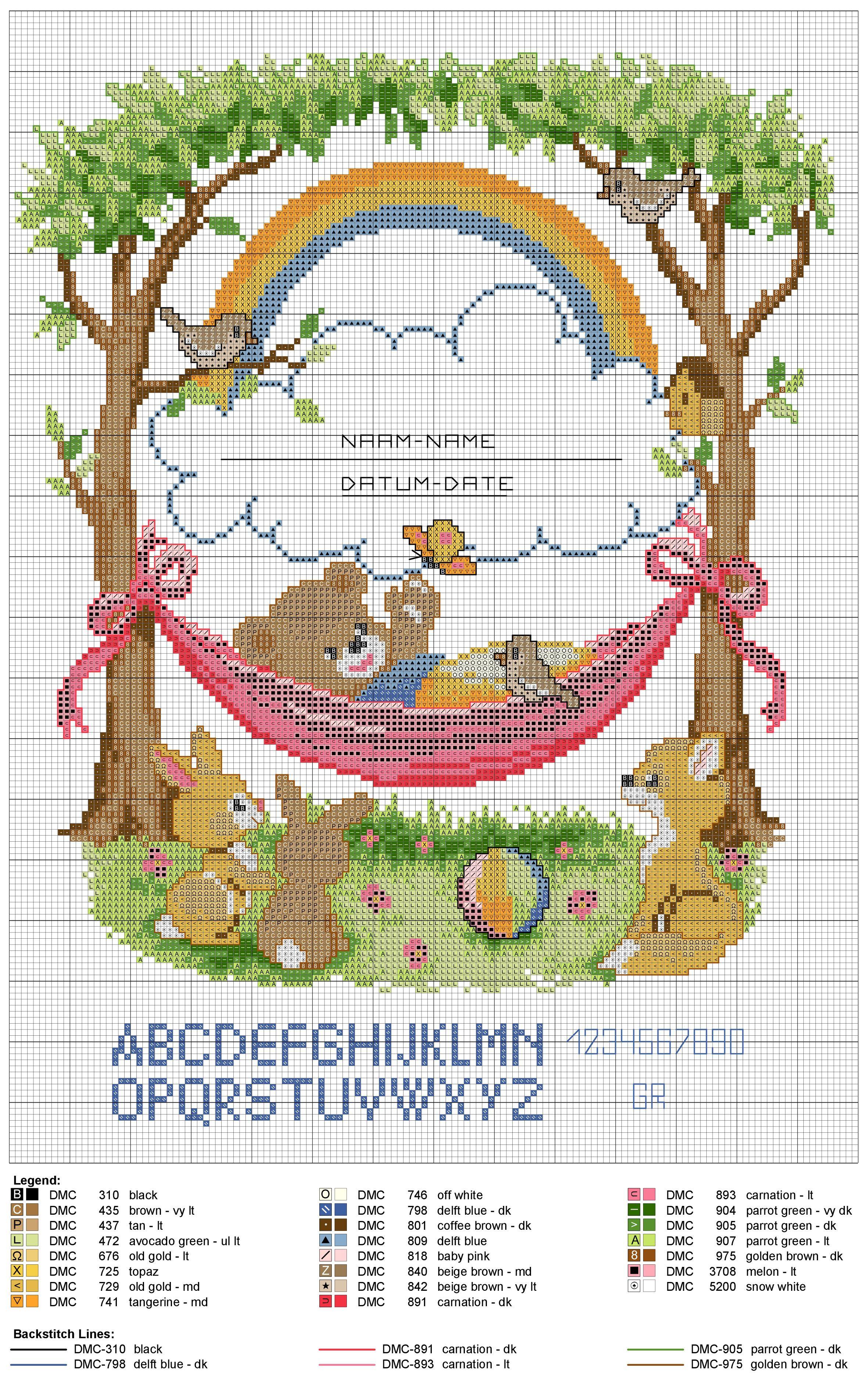 birth sampler bear in hammock birth sampler bear in hammock                    pinterest   birth bears      rh   pinterest
