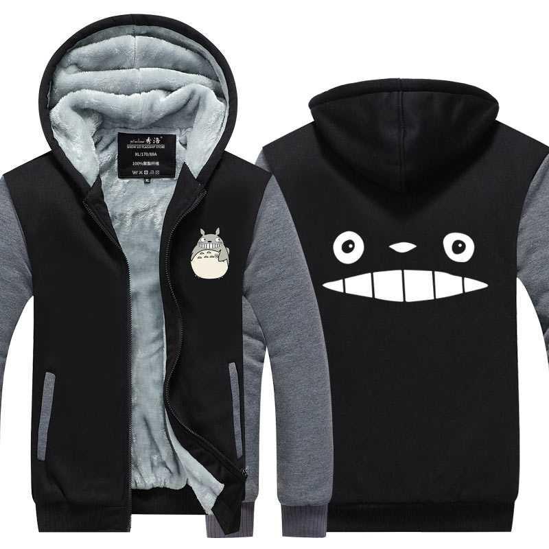 Wu Tang Print Sweatershirt Zipper Thicken Hoodie Unisex Jacket Winter Warm Coat