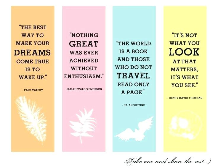 Make A Bookmark And Write An Inspiring Quotation On It Printable
