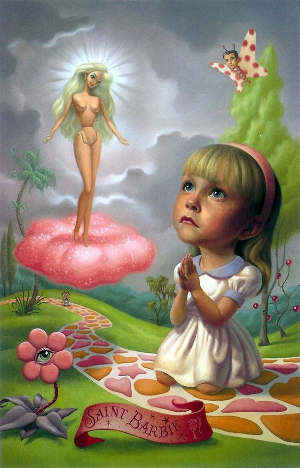 saint barbie painting by mark ryden painting pinterest mark