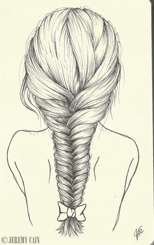 Lange haare zeichnen bleistift