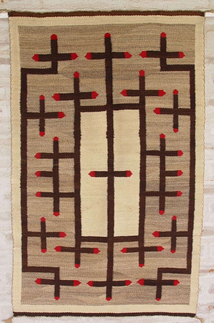 Native American Woven Rug Blanket Pottery
