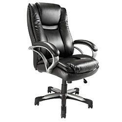 save $100 on realspace® btec 600 big & tall high-back chair, black
