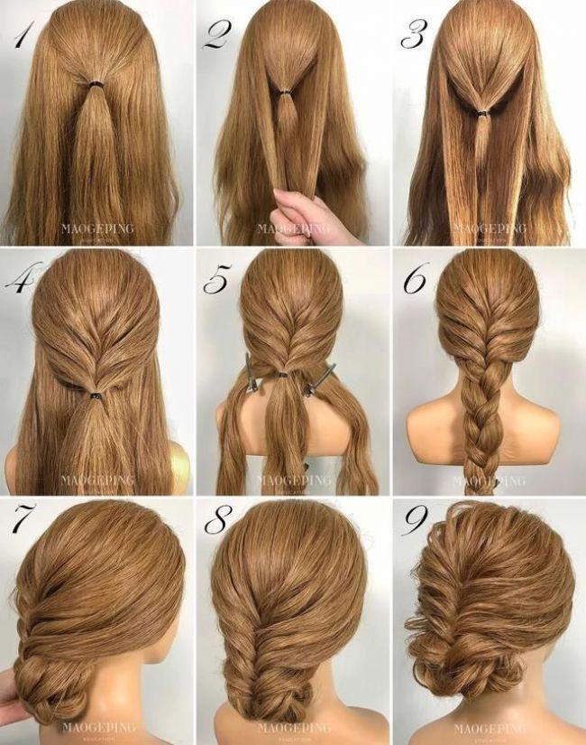 Pin By Styles De Cheveux On Styles De Cheveux In 2018 Pinterest Night Hairstyles Medium Hair Styles Long Hair Styles