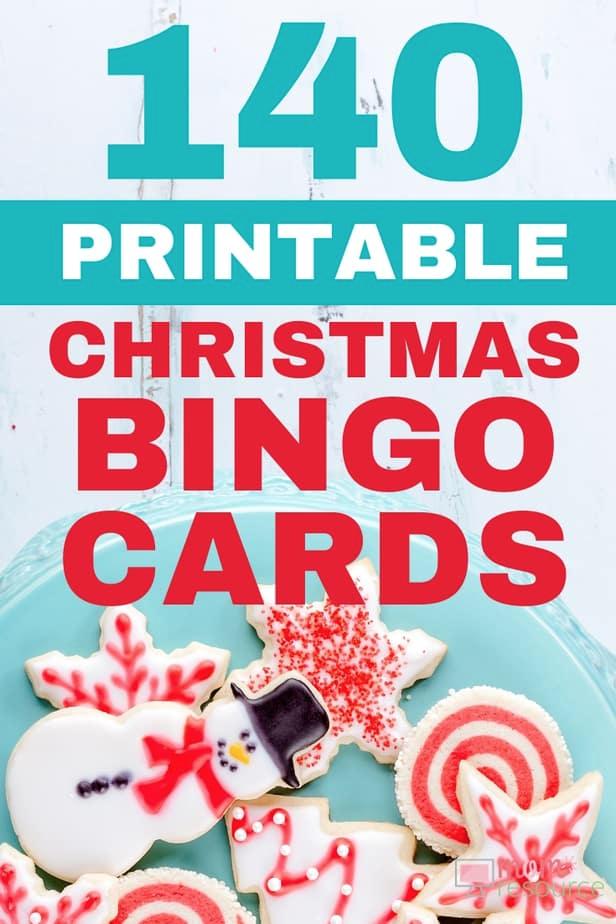 Christmas printable bingo cards for large group (up to 140)   Christmas bingo, Christmas bingo ...