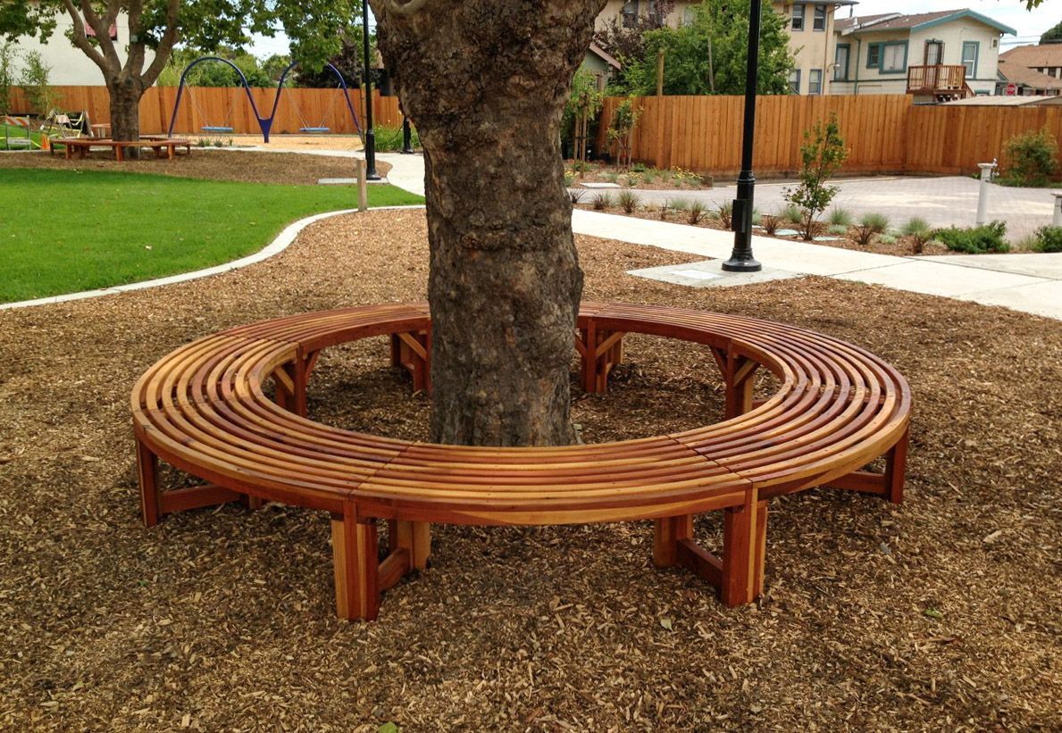 Miramar Half Circle Tree Bench Tree bench, Outdoor