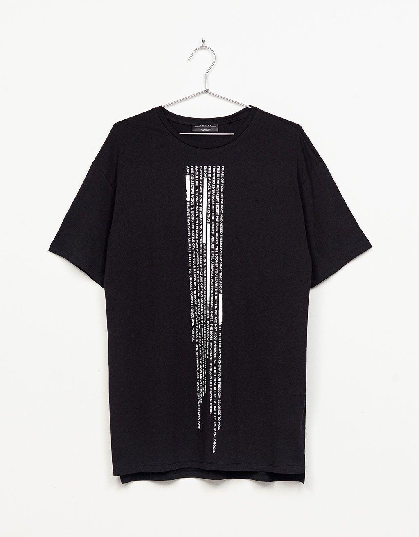 ShirtBoyfriend T Material Vertical Print CamisetasRopa De 8n0wmvN