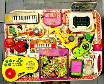 Steve Beresford's toy orchestra, courtesy of Usurp Gallery.