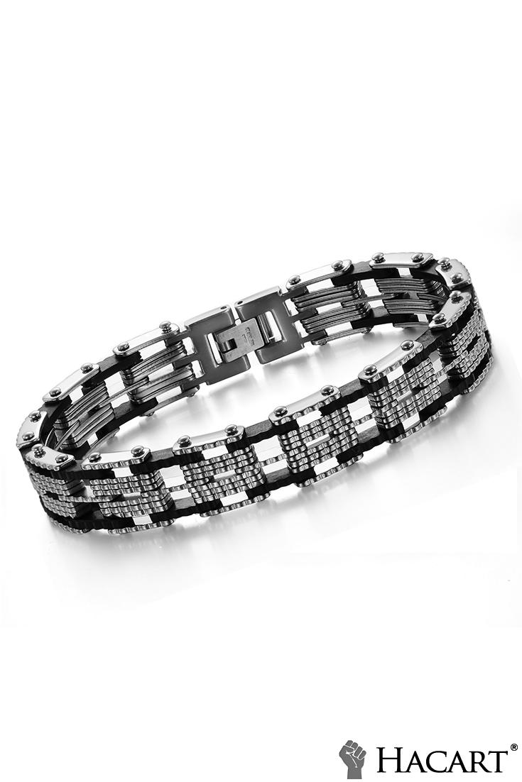 Hacart deal motorbike chain bracelet for men l titanium steel