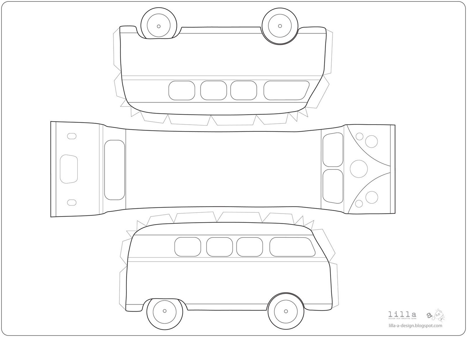 Free Printable Vw Bus Manualidades Pinterest Bus Kuchen Auto