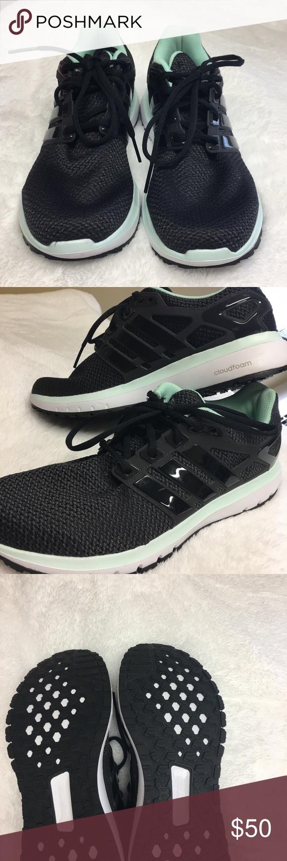 save off 8ee76 838a0 BRAND NEW adidas Cloudfoam Ortholite Sneakers Worn maybe 3-4 times adidas  cloudfoam running shoes