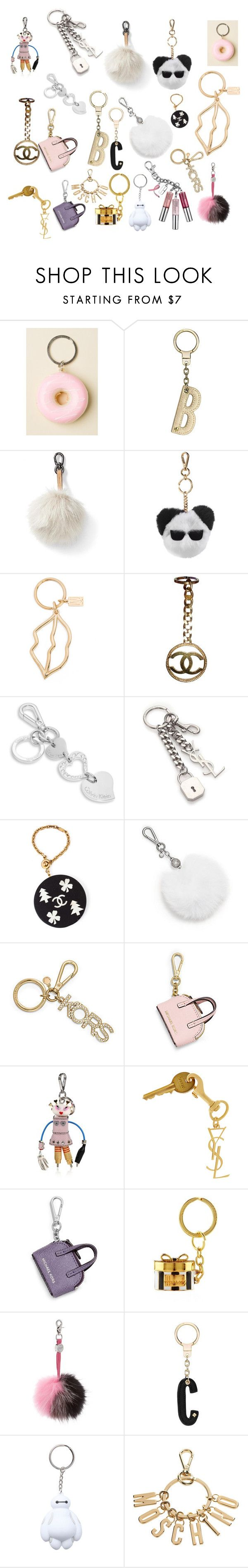 """Keychains"" by outfitsbyqueen ❤ liked on Polyvore featuring Kate Spade, Banana Republic, Karl Lagerfeld, Kelly Wearstler, Chanel, Calvin Klein, Yves Saint Laurent, Michael Kors, Prada and MICHAEL Michael Kors"