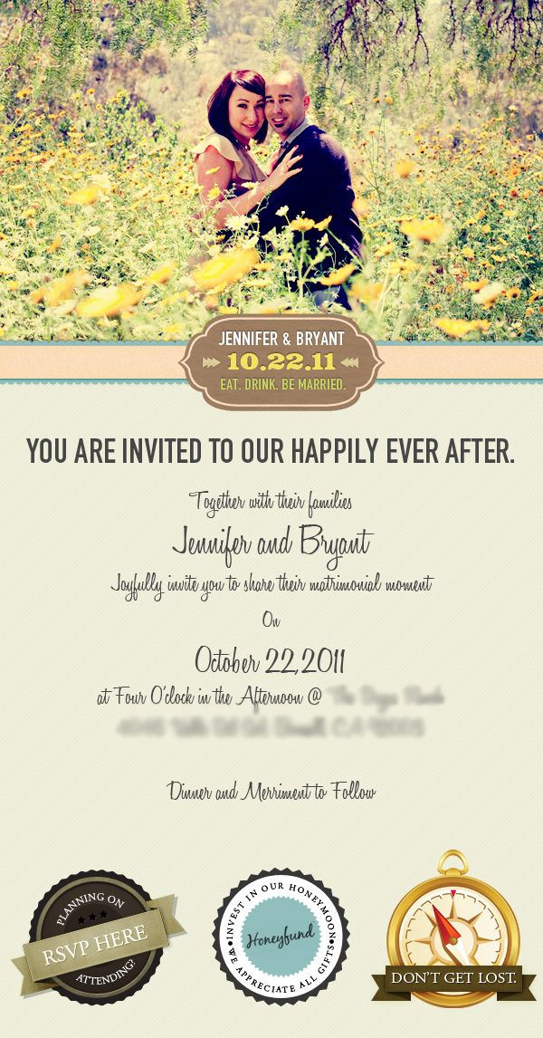 Email Wedding Invitation by Vincent Valentino, via Behance - email invitations