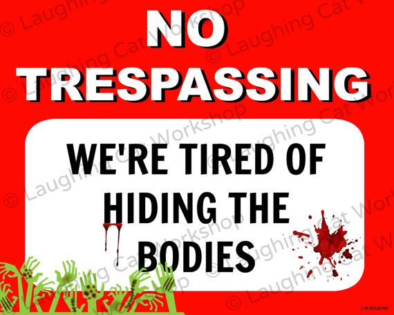 photo about Printable No Trespassing Sign identified as Pin upon Zombies