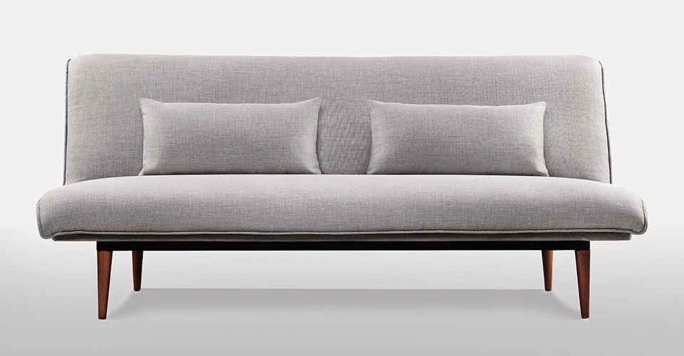 Best Abbey Sleeper Light Grey Tweed Sofa Furniture 400 x 300