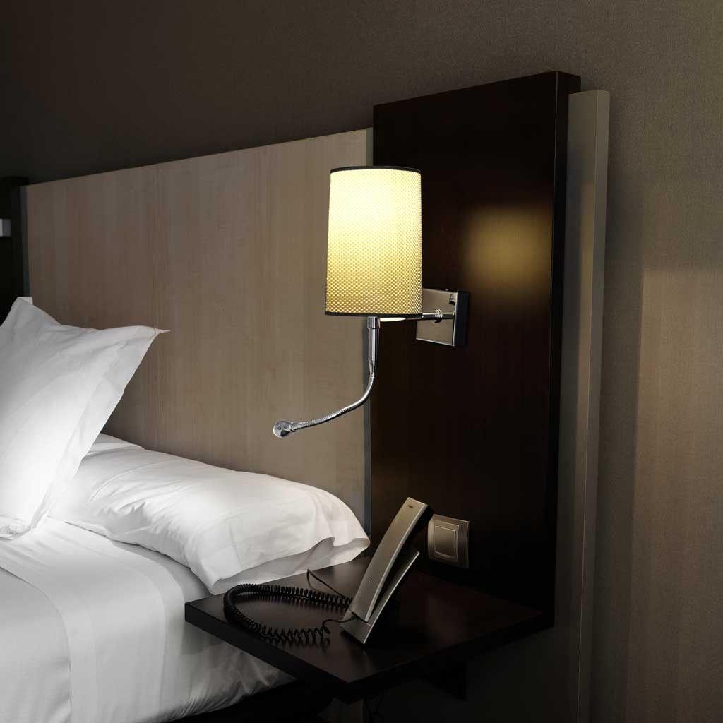 L mpara aplique de pared con lector led modelo sunstone - Apliques pared dormitorio ...