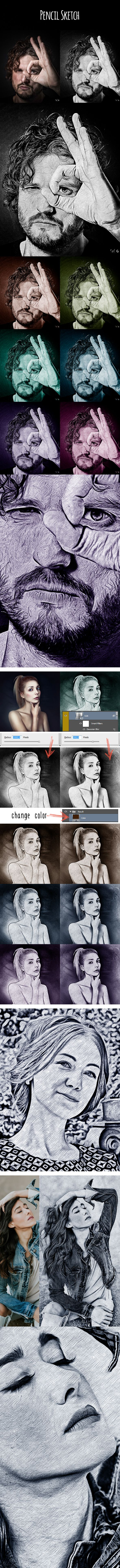 Pencil sketch photo effects actions download here https graphicriver net item pencil sketch 20133094refalena994