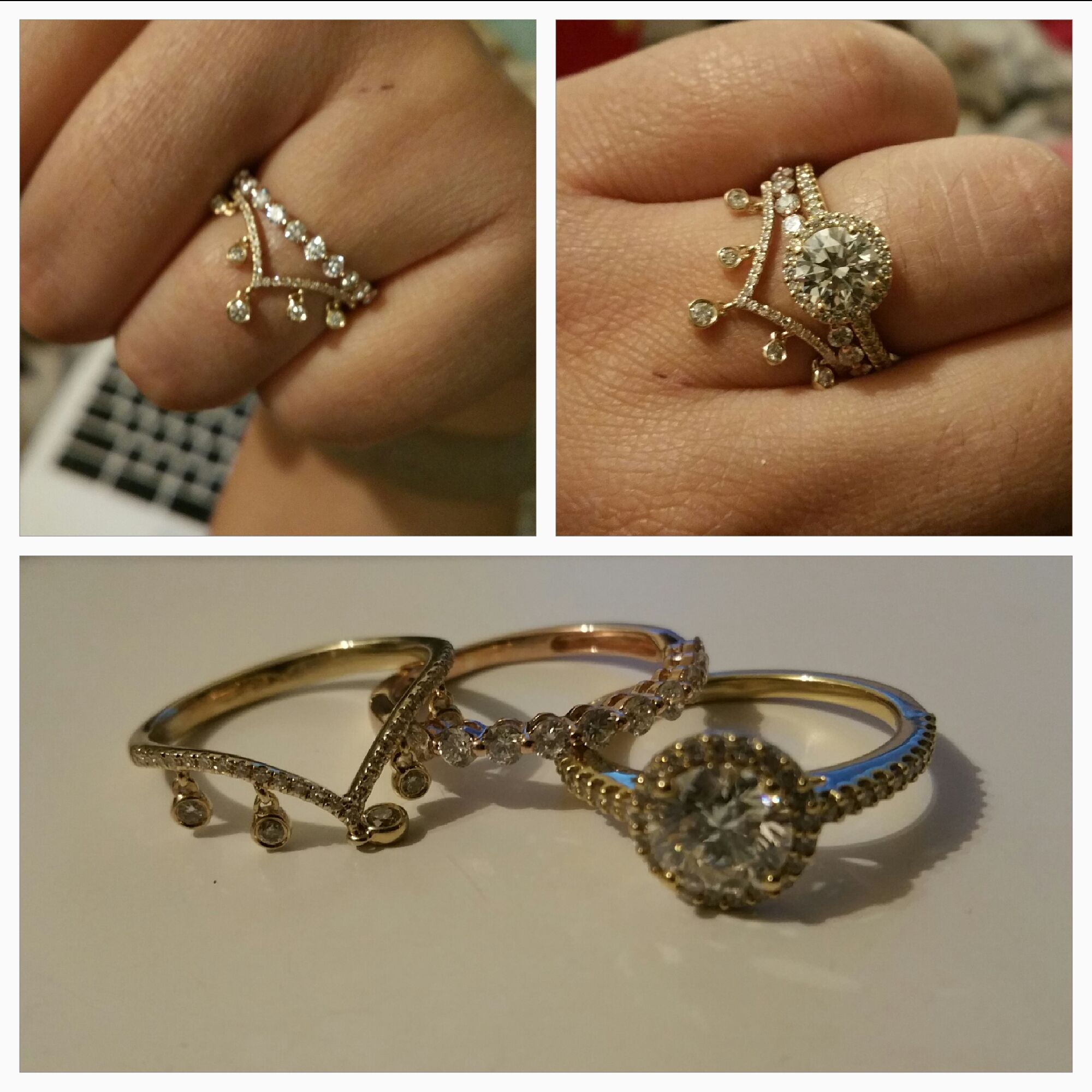 Anyone have a chevron shape wedding band with images