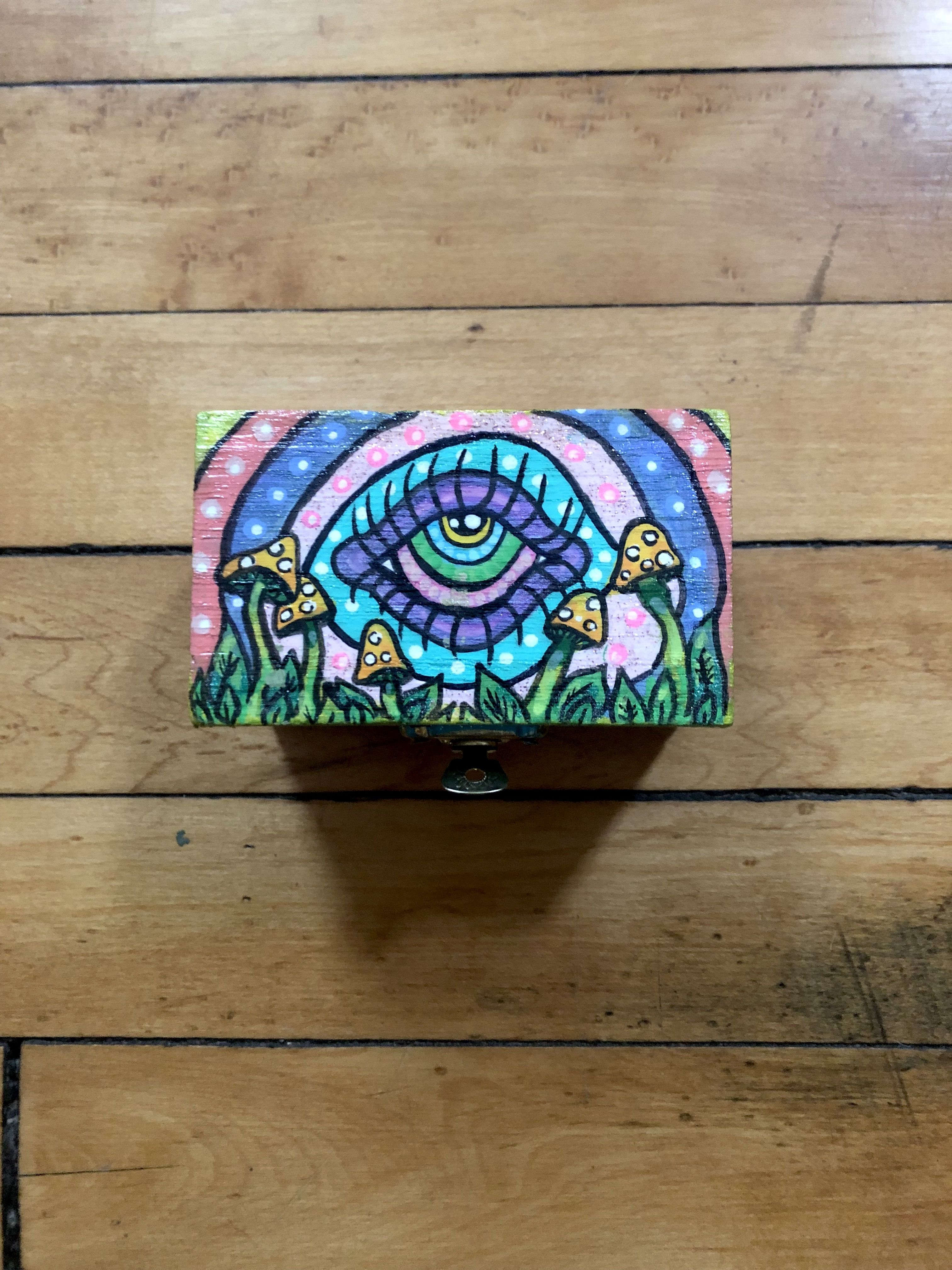 Wooden Box Painting Ideas Trippy