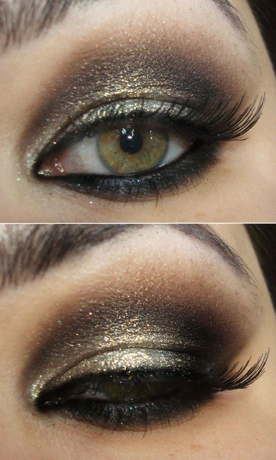 Brown And Gold Party Makeup | Beauty | Pinterest