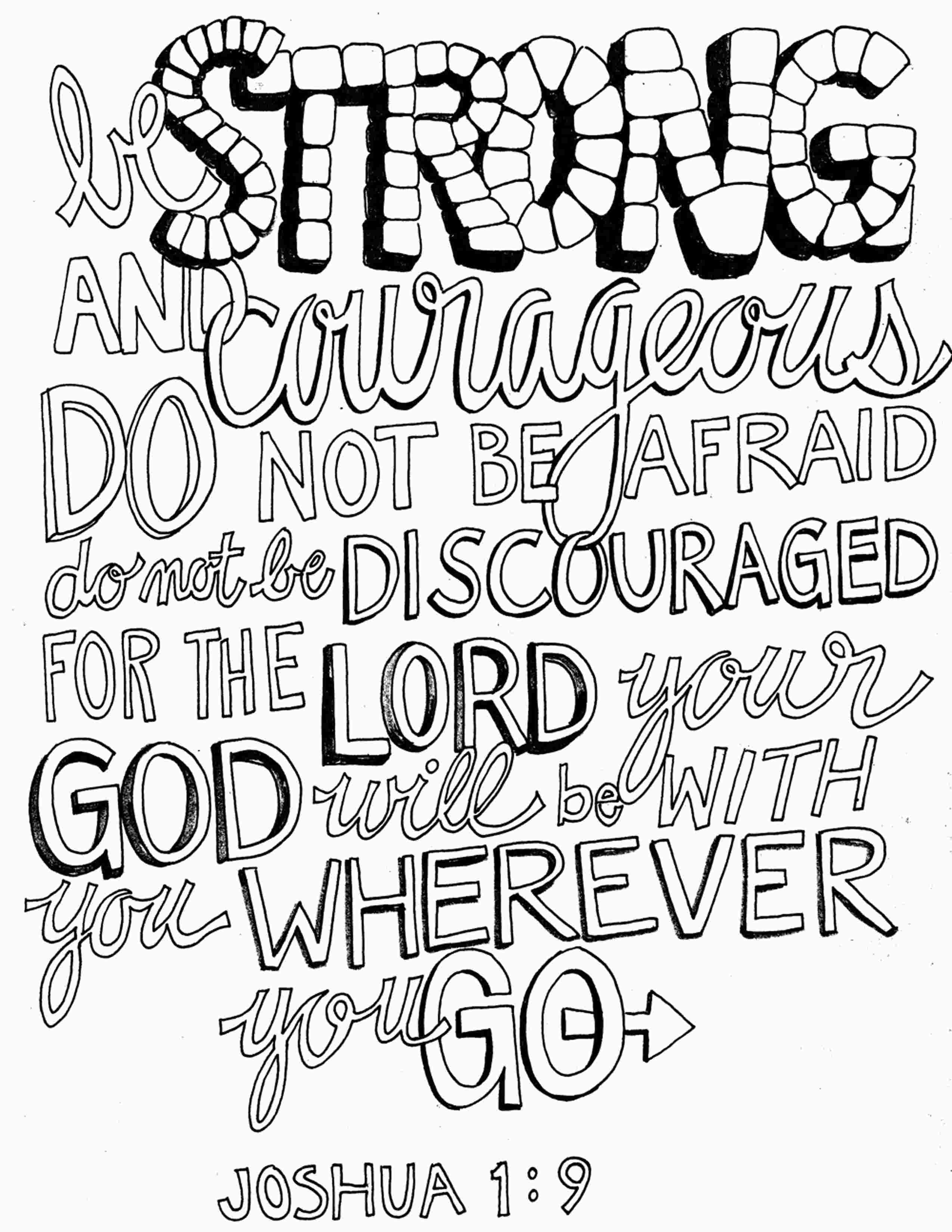 Joshua 1 9 Coloring Pages Bible Verse Coloring Page Joshua